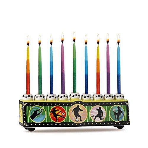 Zion Judaica Ceramic Collectible Sports Menorah (Soccer)