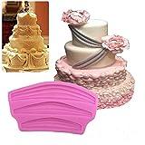 Cake Mold-NACOLA Long Ribbon Swag Mold Silicone Fondant Border Icing Sugarcraft Mold DIY Cake Decoration