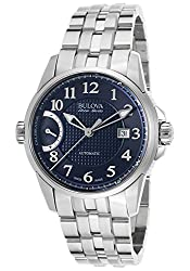Bulova Men's 'Calibrator' Swiss Automatic Stainless Steel Casual Watch (Model: 63B175)