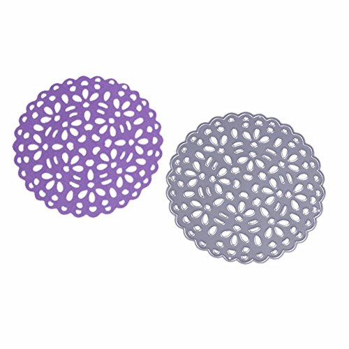 (SMALL-CHIPINC - Pierced Round Flower Frame Metal Steel Cutting Dies For DIY Photo/Scrapbooking Paper Card Embossing Decoration Craft)