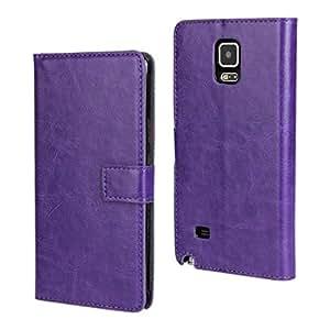 CHSH Caballo Skin Patrón Monedero Funda de Cuero cáscara para Samsung Galaxy Note 4 SM-N910S SM-N910C con cierre magnético tarjeta efectivo espacio y soporte Cover Violeta