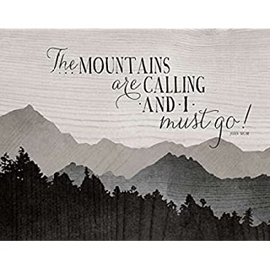Mountains are Calling Poster Print by Amy Cummings (22 x 28)
