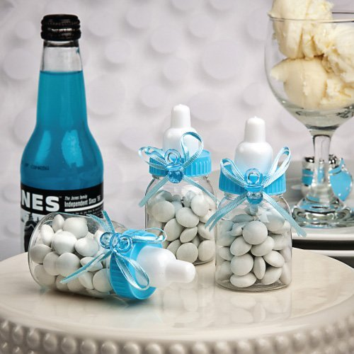 Blue Baby Bottle Favors Containers