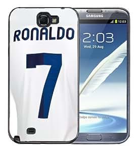 Samsung Galaxy Note 2 Black Rubber Silicone Case - Christiano Ronaldo Barcelona Soccer Futbol Futsal Jersey