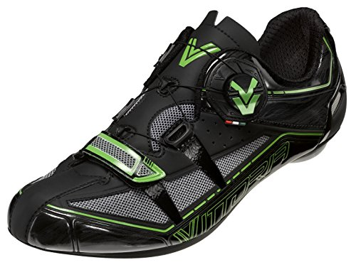 Vittoria V Spirit Cycling Shoes, Black/Green Fluorescent, 37 EU/5 D US by Vittoria