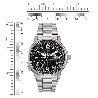 Citizen Men's Eco-Drive Promaster Nighthawk Dual Time Watch with Date, BJ7000-52E by Citizen