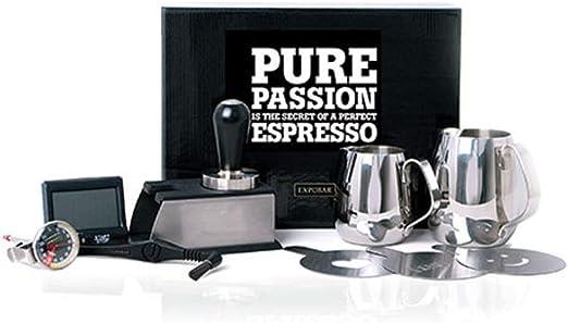 Expobar | Barista Kit | Adquisición Set para Espresso | Tamper Pitcher Tamperstation Shot Timer Termómetro: Amazon.es: Hogar