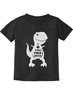 Valentines Day I Love You This Much T-Rex Toddler//Kids Sweatshirt Tstars