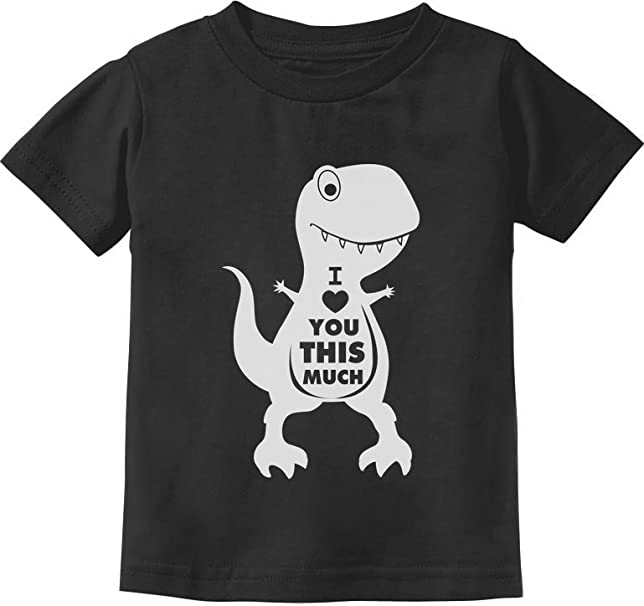 Heart Crusher T-Rex Love Valentines Day Outfit Toddler Kids Long Sleeve T-Shirt
