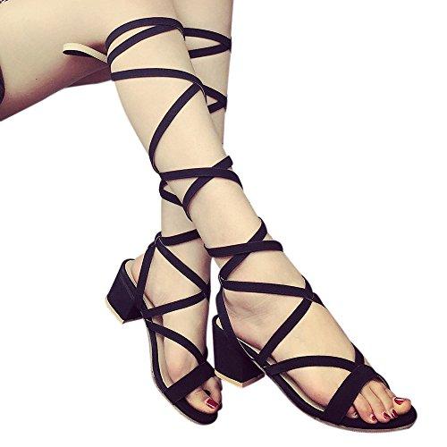 dbb7e5176fad97 Sonnena Women Boots Women Cross-tied Platform Shoes High Boots Over The Knee  Boots Flat Heel ...