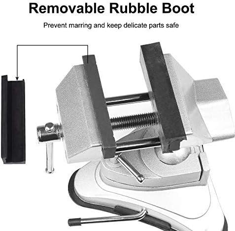 REFURBISHHOUSE 360度 回転吸引カッププライヤー活動ミニテーブル万力固定クリップベッド 絵画の作成 彫刻木工用溶接クリップ
