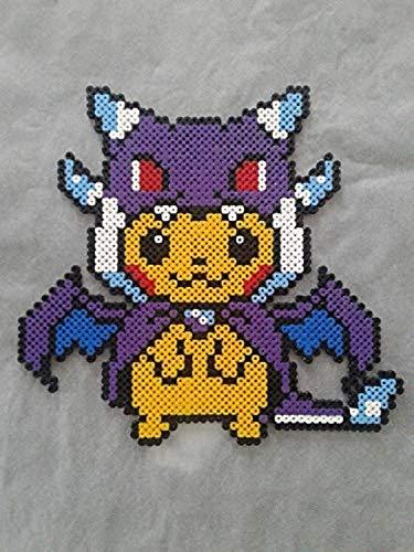 Pikachu Costume Dracaufeu Pixel Art Perler Beads Perla
