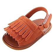 Forestime Summer Kids Infant Baby Girls Anti-Slip Moccasins Tassels Sandal Shoes Prewalker (I, 6-12 Months)