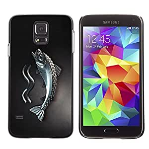 GagaDesign Phone Accessories: Hard Case Cover for Samsung Galaxy S5 - Metal Fish by mcsharks