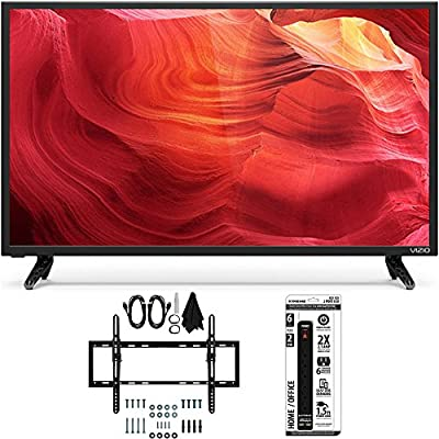 Vizio E48-D0 - 48-Inch SmartCast Full-Array LED 1080p HDTV Flat/Tilt Wall Mount Bundle includes TV, Flat & Tilt Wall Mount Ultimate Kit and 6 Outlet Power Strip with Dual USB Ports