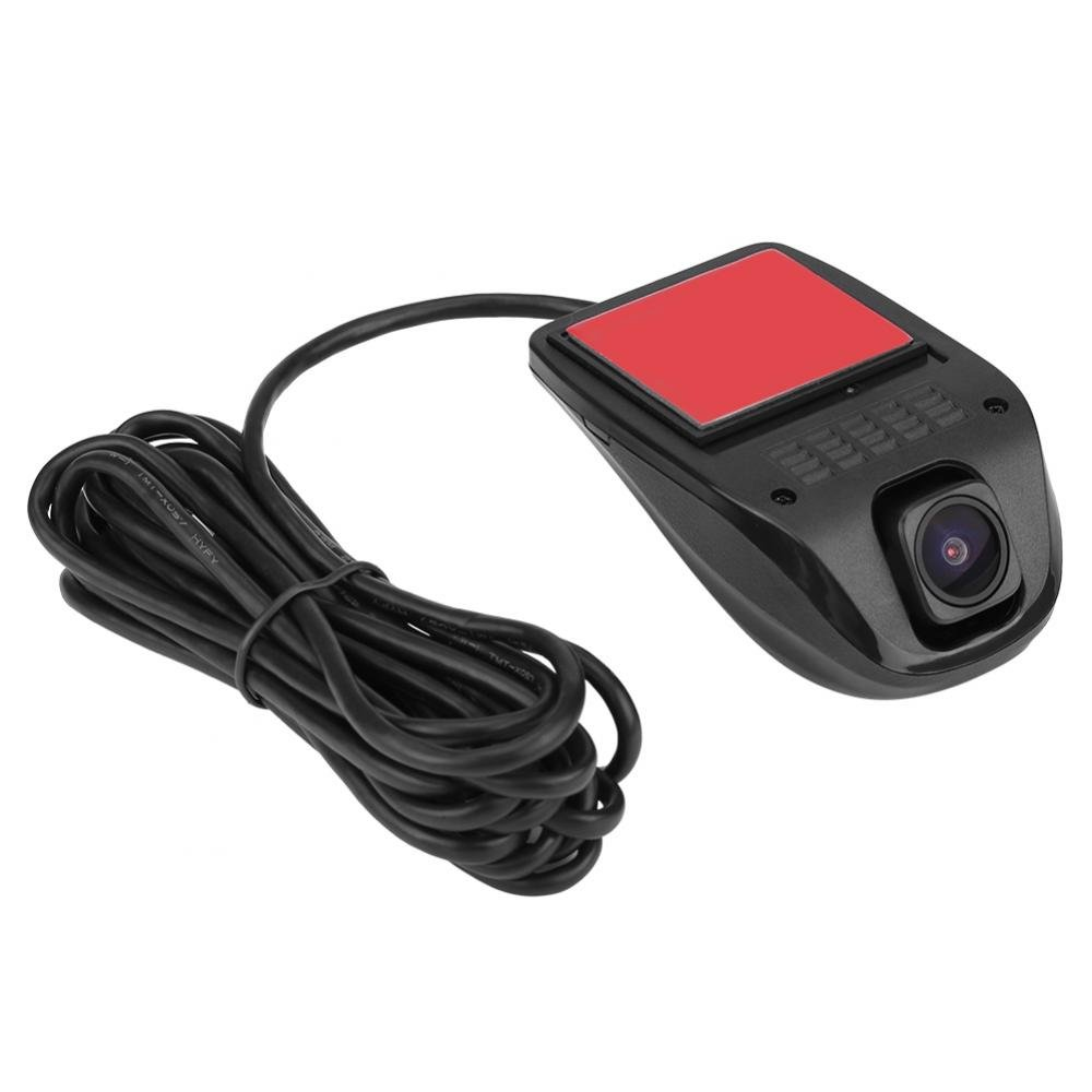 Qiilu 1080P HD USB Camera Car DVR Video Driving Recorder with Night Vision for Android System