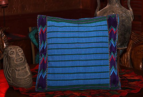 Blue Zacualpa 18 inch Throw Pillow Cover