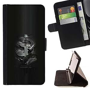 Momo Phone Case / Flip Funda de Cuero Case Cover - Y ahora mi reloj comienza Jon Nieve;;;;;;;; - HTC Desire 626