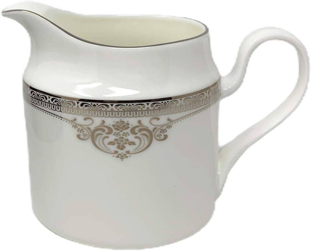 Silver Oneida Heirloom Collection Michelangelo Bone China Creamer