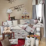 Fly-By 4 Piece Baby Crib Bedding Set with Bumper by Glenna Jean