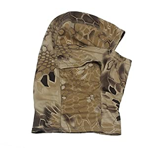 ABC® Camouflage Army Cycling Motorcycle Cap Balaclava Hats Full Face Mask (Khaki)