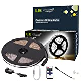 LE 12V Flexible LED Strip Lights Kit, LED Tape, Daylight White, 300 Units 3528 LEDs, Non Waterproof, Light Strips, Pack of 5m, All Accessories Included
