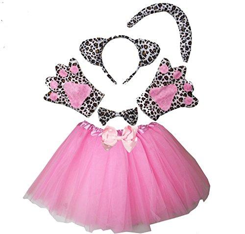 Kirei Sui Kids Leopard Costume Tutu Set Pink