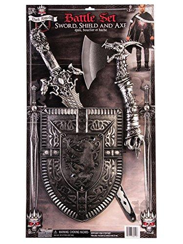 Forum Novelties Dark Royalty Armor Shield Sword and Axe -