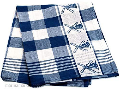 Dutch Tea Towel Blue Windmill 6-Pack