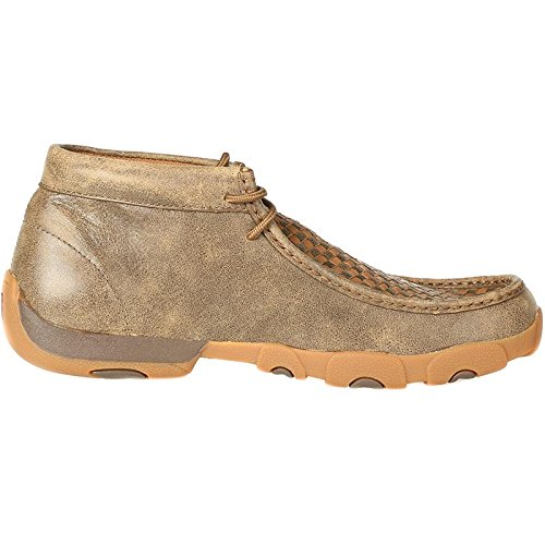 Twisted X Boots Mens Patchwork Driving Mocs 9 W Bomber/Tan by Twisted X (Image #4)