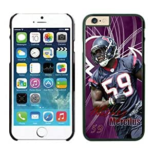NFL Case Cover For Apple Iphone 5/5S Houston Texans Whitney Mercilus Black Case Cover For Apple Iphone 5/5S Cell Phone Case ONXTWKHB1868