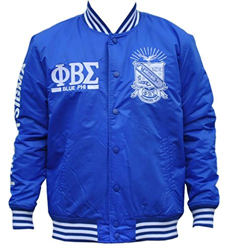 Phi Beta Sigma Fraternity Mens Lightweight Jacket Extra Large Royal Blue