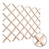 Hardware Resources WR30MP Wine Lattice Rack, Hard Maple
