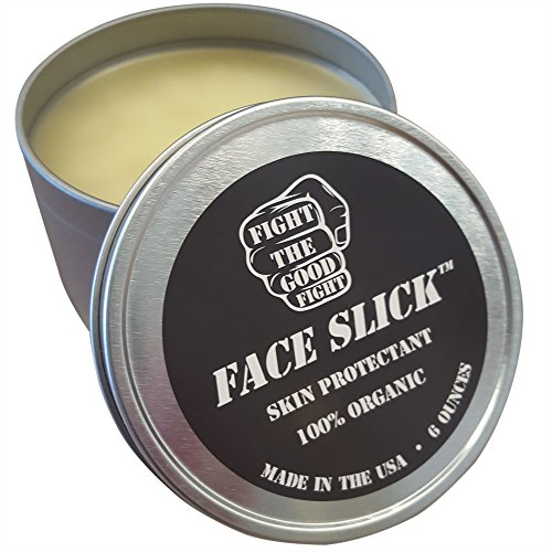 FACE SLICK SPARRING BALM ORIGINAL 6 OZ. 100% Organic Balm By Fight The Good Fight. The #1 Choice of Professional Boxers. FACE SLICK Pure All Natural Organic Salve And Organic Skin Protectant