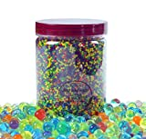 Water Beads 18 oz (over 62,000 beads!!) For Kids Sensory Experience, Toy Guns with Bullet Beads[Rainbow Mix], Party Decoration and Watering plant