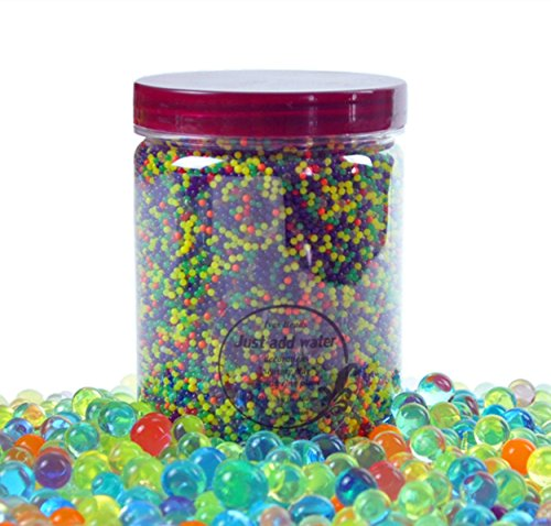 Water Beads 18 oz (over 62,000 beads!!) For Kids Sensory Experience, Toy Guns with Bullet Beads[Rainbow Mix], Party Decoration and Watering plant by TD.IVES (Image #7)