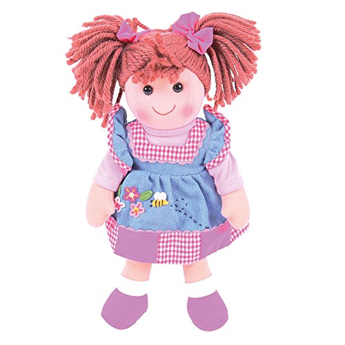 Bigjigs Toys 13 Inch Melody Doll - Soft Body Plush Toy Doll with Hair and Outfit
