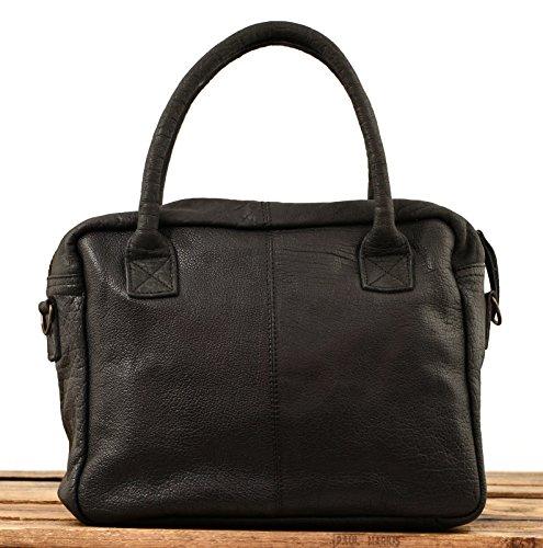 LE DANDY Nero / Dorato borsa in pelle stile vintage PAUL MARIUS