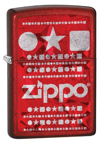 - Zippo Candy Apple Red Laser Imprint with Shapes