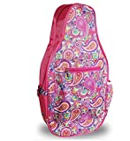 Pickleball Marketplace Ladies Printed Pickleball Sling Bag - Pink Paisley - New | Designed for Pickleball