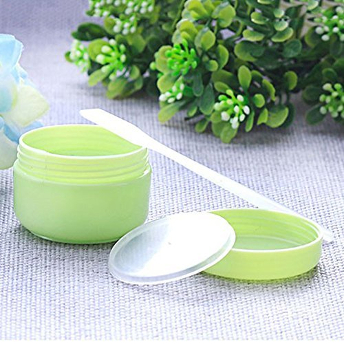 Makeup Empty Bottle,ASDOMO 5PCS PP Empty Refillable Cosmetic Containers Ointments Bottle Green 20G 442.8CM