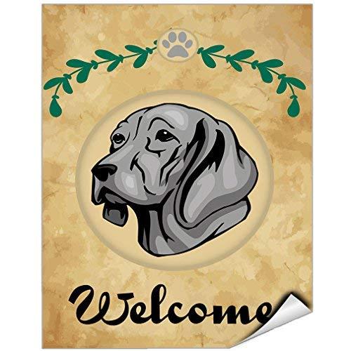 Welcome Weimaraner Dog Vinyl Label Decal Sticker Vinyl Label 7 X 10 Inches