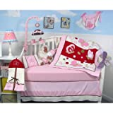 13 Piece Chasing Butterflies Baby Crib Nursery Bedding Set