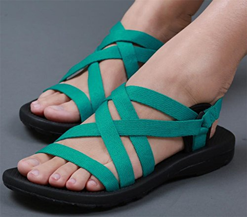 Green Athletic SATUKI Sandal SATUKI Outdoor Womens Womens PYwU41x