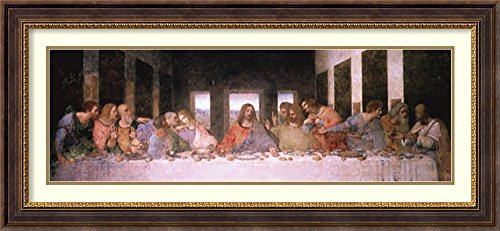 Amanti Art Framed Home Wall Art Prints | The The Last Supper (Detail) by Leonardo da Vinci | Traditional, Modern Contemporary Decor - Embossed Lip Inner Gold