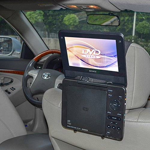 (TFY Car Headrest Mount Holder for Standard (Laptop Style) Portable DVD Player)