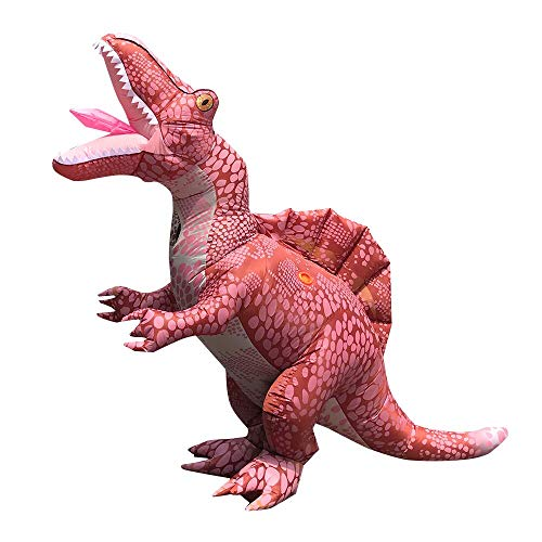 FENWOOH Inflatable Costume Dinosaur Full Body Dinosaur Air Blow-up Deluxe Halloween Costume Party Fancy Dress - Adult Pink