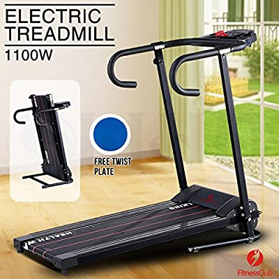 Fitness Club Folding Electric Treadmill Running Fitness Machine with Free Twist Plate