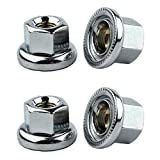 4x Nuts Front and Back Anti Scratching Bike Silver 3759d 3759t