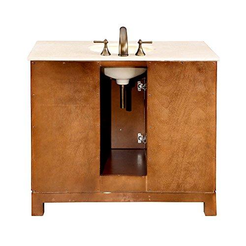 Silkroad exclusive countertop cream marble stone single for Bathroom furniture quebec